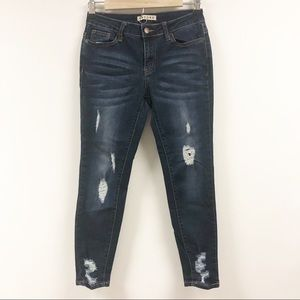 Encore Skinny Distressed Jeans